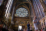 Upper Chapel in the Ste Chapelle; Paris; France; Europe