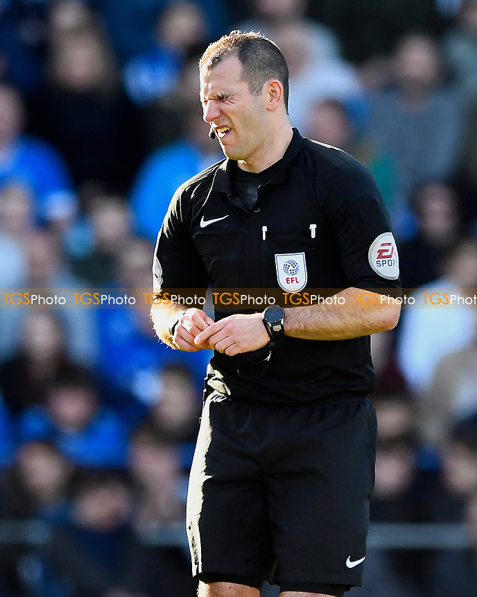 Referee Tim Robinson  during Portsmouth vs Newport County, Sky Bet EFL League 2 Football at Fratton Park on 25th March 2017