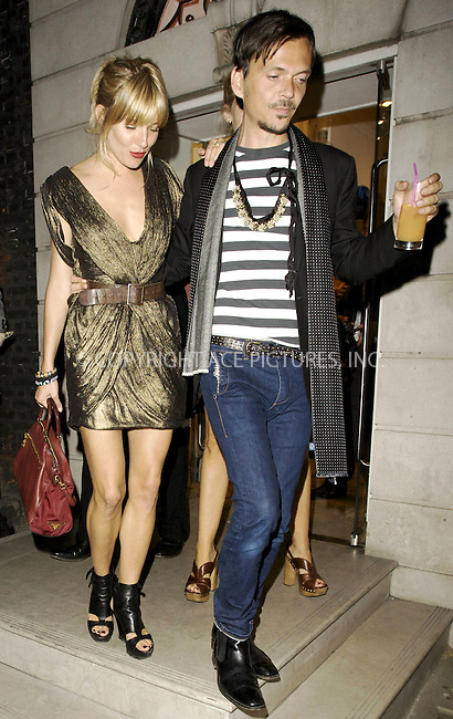 WWW.ACEPIXS.COM . . . . .  ..... . . . . US SALES ONLY . . . . .....May 26 2010, London....Sienna Miller and Matthew Williamson leaving the Matthew Williamson Belvedere Party on May 26 2010 in London......Please byline: FAMOUS-ACE PICTURES... . . . .  ....Ace Pictures, Inc:  ..tel: (212) 243 8787 or (646) 769 0430..e-mail: info@acepixs.com..web: http://www.acepixs.com