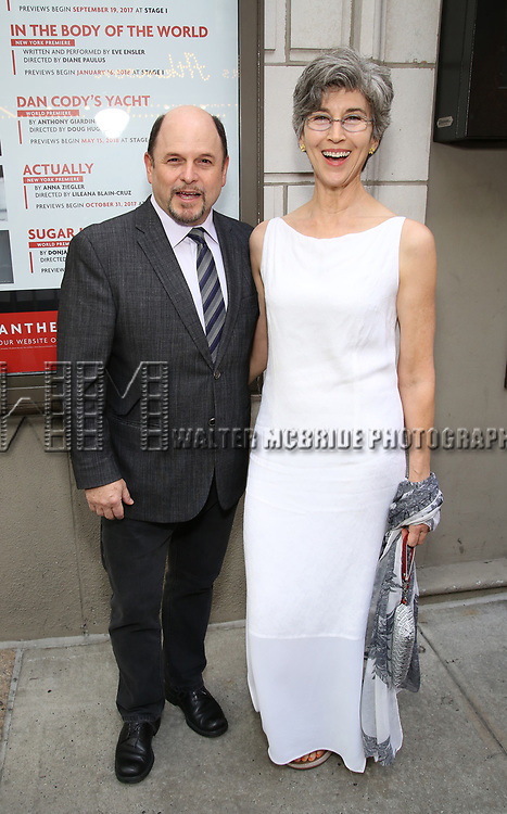 Jason Alexander and Daena E. Title attends the Broadway Opening Night performance of 'The Prince of Broadway' at the Samuel J. Friedman Theatre on August 24, 2017 in New York City.