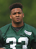 Jamal Adams #33, New York Jets rookie safety and first round selection (sixth overall) in the 2017 NFL Draft, gets ready for a day of offseason training activity at the Atlantic Health Jets Training Center in Florham Park, NJ on Tuesday, May 23, 2017.