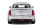 Straight rear view of a 2019 Cadillac CTS Luxury 4 Door Sedan stock images