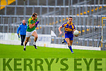 Paul O'Donoghue South Kerry in Action against Mark Crowley Kenmare in the County Senior Football Semi Final at Fitzgerald Stadium Killarney on Sunday.