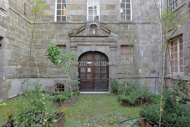 Entrance to the Monastere Sainte Catherine de Sienne, or Monastery of St Catherine of Siena, founded 1623 by St Agnes of Jesus, or St Agnes of Langeac, 1602-34, Langeac, Haute Loire, Auvergne, France. Picture by Manuel Cohen