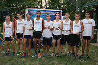 The Festus Tigers dominated the Varsity boys race at the Fleet Feet Kickoff meet at Quail Ridge Park in Wentzville, scoring 34 points while runner-up Franciw Howell scored 75 and Francis Howell Central scored 118 points.