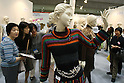 May 6, 2010 - Tokyo, Japan - An creation made by knit designer Kumiko Motai, using her original knitting stitches, is on display during the 34th Japan Hobby Show at Tokyo Big Sight, Japan, on May 6, 2010. The annual three day event, the largest hobby craft show in Japan, hosts nearly 351 domestic and international suppliers, exhibiting a variety of products including artificial flower materials, leather craft goods, wool, cotton and other hand-made hobbies. In 2009 the event attracted over 104,000 enthusiastic visitors.