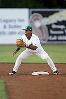 August 16 2008:  Second baseman Jeanfred Brito (13) of the Beloit Snappers, Class-A affiliate of the Minnesota Twins, during a game at Pohlman Field in Beloit, WI.  Photo by:  Mike Janes/Four Seam Images