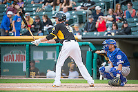 Ryan Jackson (5) of the Salt Lake Bees at bat against the Oklahoma City Dodgers in Pacific Coast League action at Smith's Ballpark on May 25, 2015 in Salt Lake City, Utah.  (Stephen Smith/Four Seam Images)