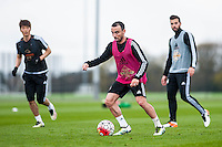 Tuesday 19 April 2016<br /> Pictured: Leon Britton of Swansea City in action during training.<br /> Re: Swansea City Training Session ahead of the away game against Leicester City FC