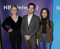 09 January 2018 - Pasadena, California - Olivia Taylor Dudley, Jason Ralph, Stella Maeve. 2018 NBCUniversal Winter Press Tour held at The Langham Huntington in Pasadena. <br /> CAP/ADM/BT<br /> &copy;BT/ADM/Capital Pictures