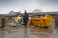 Pictured: Russell Cameron in his flood affected house in Porth. Wednesday 04 March 2020<br /> Re: Revisiting the flood affected areas in Pontypridd, Wales, UK.
