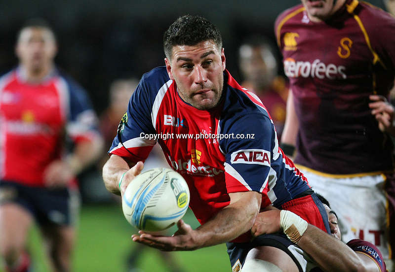 Tasman's Kieron Fonotia in the ITM cup rugby championship match, Southland v Tasman, Rugby Park Stadium, Invercargill, New Zealand, Saturday, August 17, 2013. Photo: Dianne Manson / photosport.co.nz