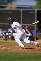 Seattle Mariners Greifer Andrade (8) during an instructional league intrasquad game on October 6, 2015 at the Peoria Sports Complex in Peoria, Arizona.  (Mike Janes/Four Seam Images)