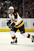 February 17th 2007:  Bobby Allen (38) of the Boston Bruins skates up ice vs. the Buffalo Sabres at HSBC Arena in Buffalo, NY.  The Bruins defeated the Sabres 4-3 in a shootout.