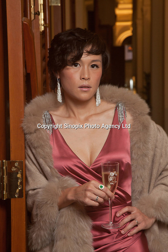 Gigi Chao poses for a portrait at a charity benefit for UNICEF, at the Hullet House in Tsim Sha Tsui in Kowloon on Wednesday, November 29, 2012.<br /> <br /> Photo   Ira Chaplain / Sinopix