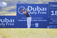 Christiaan Bezuidenhout (RSA) on the 18th during Round 1 of the Dubai Duty Free Irish Open at Ballyliffin Golf Club, Donegal on Thursday 5th July 2018.<br /> Picture:  Thos Caffrey / Golffile