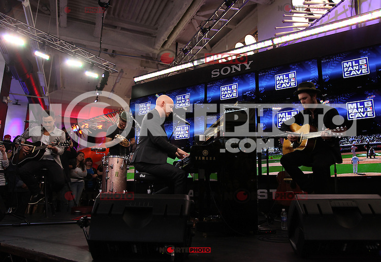 13.04.2012 - Presentacion de The Fray  en el  MLB Fan Cave como parte de una serie de conciertos en el  MLB Fan Cave de la ciudad de New York.<br />