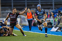 Matthew Morgan of Cardiff Blues during the Guinness PRO14 match between Cardiff Blues and Edinburgh Rugby at BT Sport Cardiff Arms Park, Cardiff, Wales on 1 September 2017. Photo by Mark  Hawkins.