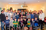 MEDALS WINNERS:  Kilgarvan GAA Club under 12's 14's and 16's winners pictured after receiving their medals at the Top of Coom with Club officials.  The medals were presented by All Ireland Minor medal winner John Mark Foley.
