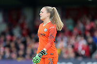 Ellie Roebuck of Manchester City Women during Arsenal Women vs Manchester City Women, FA Women's Super League Football at Meadow Park on 11th May 2019
