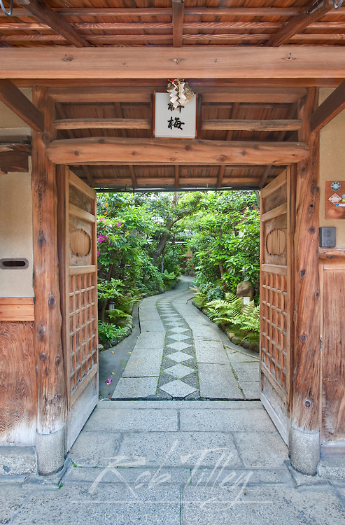 Asia, Japan, Kyoto, Gion, Restaurant Entrance
