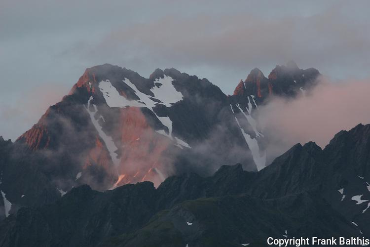 Peaks on Resurrection Peninsula at sunset