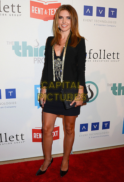 Audrina Patridge.The Thirst Project 3rd Annual Gala hosted by Pauley Perrette and Kirsten Vangsness held at the Beverly Hilton Hotel, Beverly HIlls, California, USA..June 26th, 2012.full length black dress blazer clutch bag gold trim .CAP/ADM/BT.©Birdie Thompson/AdMedia/Capital Pictures.