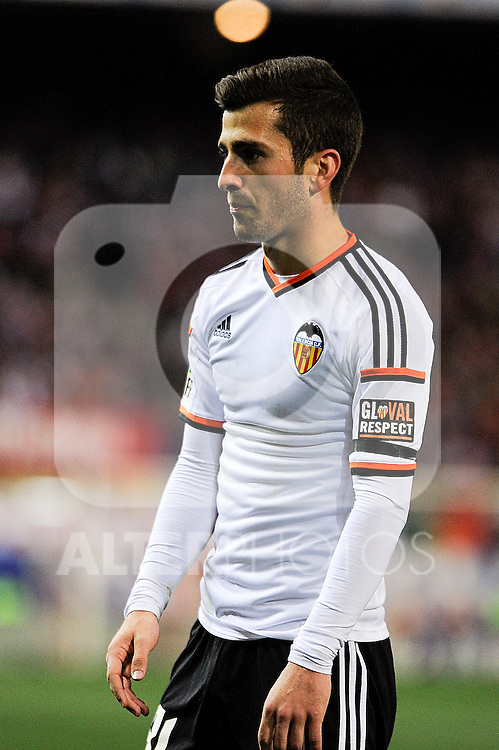 Valencia CF´s Jose Gaya during 2014-15 La Liga match between Atletico de Madrid and Valencia CF at Vicente Calderon stadium in Madrid, Spain. March 08, 2015. (ALTERPHOTOS/Luis Fernandez)