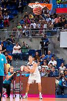 Real Madrid's player Jaycee Carroll during the 3 shot contest of Supercopa of Liga Endesa Madrid. September 24, Spain. 2016. (ALTERPHOTOS/BorjaB.Hojas) NORTEPHOTO.COM