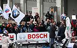 10.09.2017, N&uuml;rburgring, N&uuml;rburg, DTM 2017, 14.Lauf N&uuml;rburgring,08.09.-10.09.2017 , im Bild<br /> Der Sieger Robert Wickens (CDN#6) Mercedes-AMG Motorsport Mercedes me, Mercedes-AMG C 63 DTM  sthet auf seinem Auto und feiert mit seinen Mechanikern<br /> <br /> Foto &copy; nordphoto / Bratic