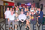 21ST BIRTHDAY: Wayne Enright, Marian Park, Ballinorig, Tralee (seated centre) having a great time celebrating with familly and friends at the Slieve Mish bar, Tralee on Saturday.