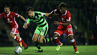 Aaron Tshibola of MK Dons in action during Forest Green Rovers vs MK Dons, Caraboa Cup Football at The New Lawn on 8th August 2017