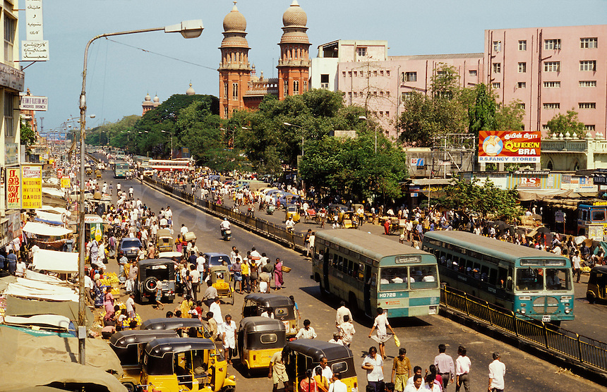 India. Madras/Chennai.  NSC Bose Road.  The state capital of Tamil Nadu. Nataji Subhash Chandra Bose Road. .