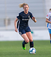 Cary, NC - April 13, 2019: The North Carolina Courage tied the Chicago Red Stars 1-1 during the NWSL (National Women's Soccer League) opener at WakeMed Soccer Park.