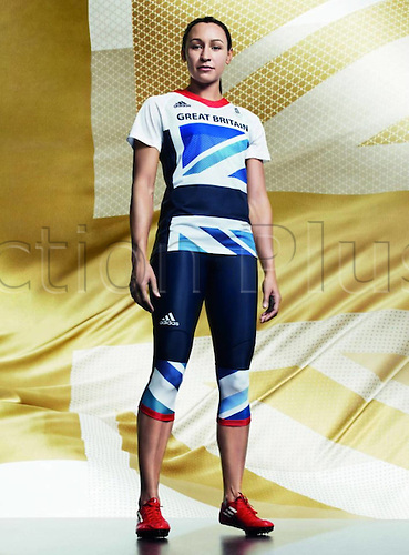 22.03.2012. London, England. British Athlete Jessica Ennis Shows The Uniform of The British Women s Track and Field team for The 2012 London designed by Stella McCartney for the London based 2012 Olympic Games in London