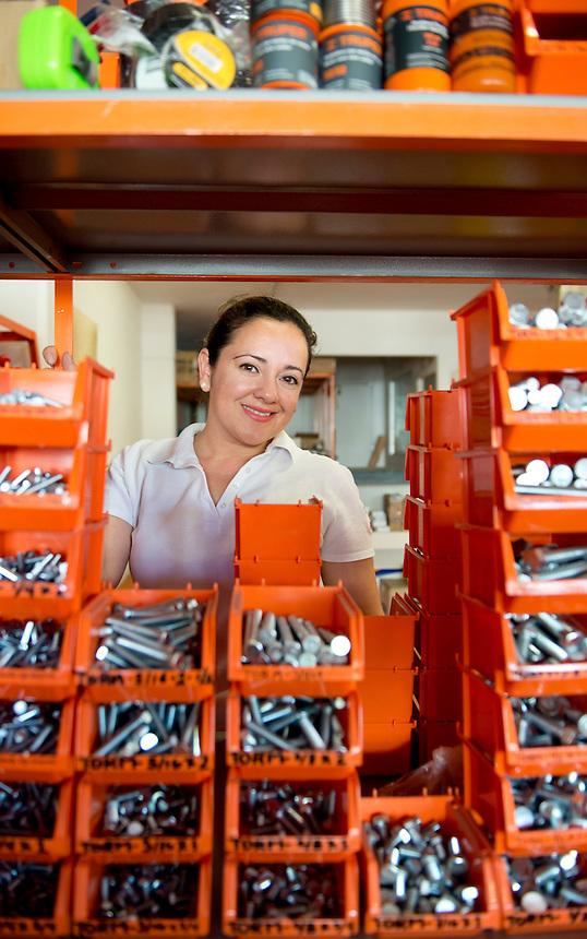 Mónica Sanz Plata. Hardware store owners in Culiacan, Sinaloa,  Mexico