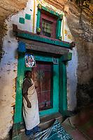 The entrance door to the Medhane Alem Kesho rock hewn church