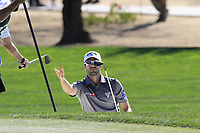 Adam Hadwin (CAN) in a bunker at the 6th green during Saturday's Round 3 of the Waste Management Phoenix Open 2018 held on the TPC Scottsdale Stadium Course, Scottsdale, Arizona, USA. 3rd February 2018.<br /> Picture: Eoin Clarke | Golffile<br /> <br /> <br /> All photos usage must carry mandatory copyright credit (&copy; Golffile | Eoin Clarke)