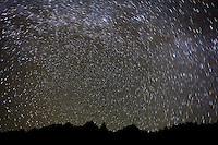 Star trails from Upper Blue Lake, Sneffels Wilderness, Colorado.  <br /> <br /> Canon EOS 5D Mk II, 24mm f/2.8 lens