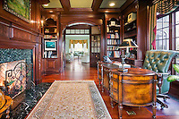 Home Office With Antique Desk Library