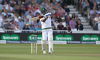 South Africa's Vernon Philander hits a boundary of the bowling of England's Stuart Broad<br /> <br /> Photographer Stephen White/CameraSport<br /> <br /> Investec Test Series 2017 - Second Test - England v South Africa - Day 1 - Friday 14th July 2017 - Trent Bridge - Nottingham<br /> <br /> World Copyright &copy; 2017 CameraSport. All rights reserved. 43 Linden Ave. Countesthorpe. Leicester. England. LE8 5PG - Tel: +44 (0) 116 277 4147 - admin@camerasport.com - www.camerasport.com