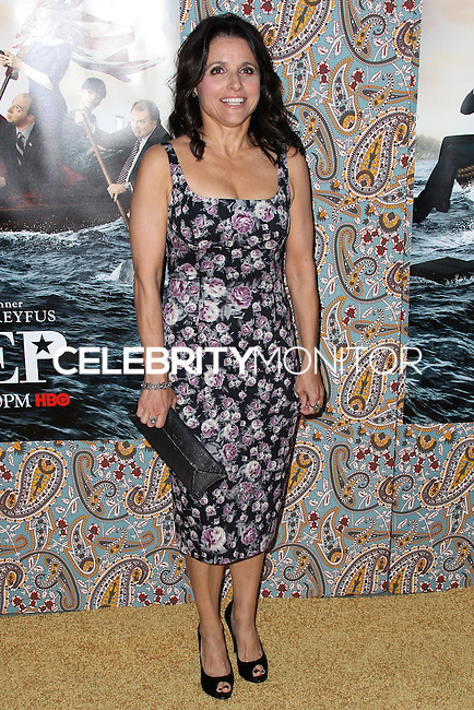 """HOLLYWOOD, LOS ANGELES, CA, USA - MARCH 24: Julia Louis-Dreyfus at the Los Angeles Premiere Of HBO's """"Veep"""" 3rd Season held at Paramount Studios on March 24, 2014 in Hollywood, Los Angeles, California, United States. (Photo by Xavier Collin/Celebrity Monitor)"""