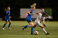 Seattle, WA - Sunday, September 24th, 2017: Beverly Yanez during a regular season National Women's Soccer League (NWSL) match between the Seattle Reign FC and FC Kansas City at Memorial Stadium.