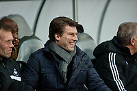 Thursday 28 November  2013  Pictured:Michael Laudrup, Manager of Swansea City<br /> Re:UEFA Europa League, Swansea City FC vs Valencia CF  at the Liberty Staduim Swansea