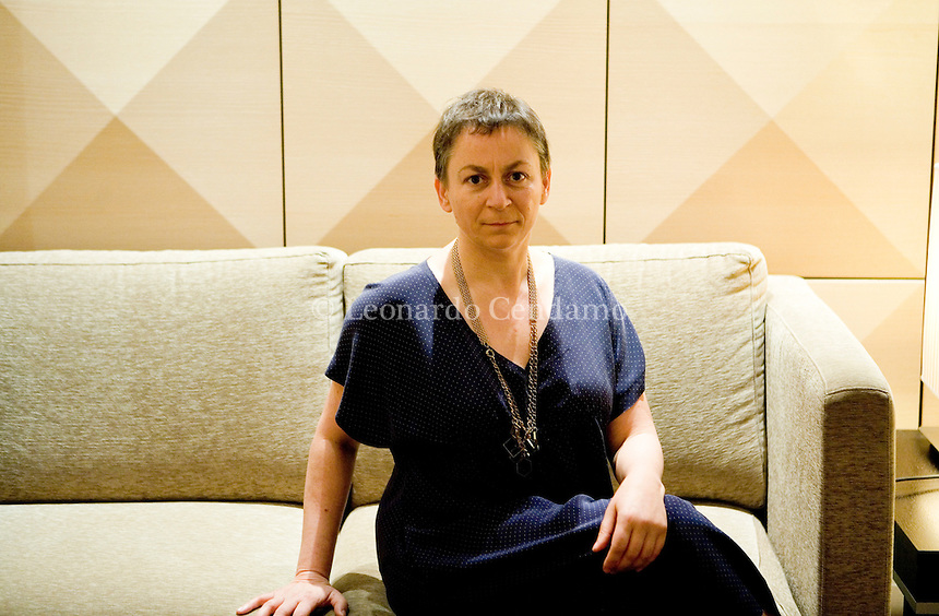 """Milan, Italy, September 2008. Anne Enright, Irish writer born in Dublin. With her fourth novel The Gathering, (""""La Veglia"""") she won the Man Booker Prize in Britain 2007. Published in Italy by Bompiani The Gathering, is distributed in 25 other countries."""