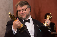 Guillermo del Toro gets both the Oscar&reg; for best picture and achievement in directing for work on &ldquo;The Shape of Water&rdquo; engraved at the Governors Ball following the live ABC Telecast of The 90th Oscars&reg; at the Dolby&reg; Theatre in Hollywood, CA on Sunday, March 4, 2018.<br /> *Editorial Use Only*<br /> CAP/PLF/AMPAS<br /> Supplied by Capital Pictures