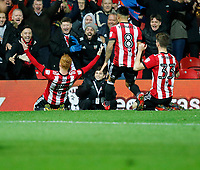 GOAL - Ryan Woods of Brentford seals the win with goal number 3 during the Sky Bet Championship match between Brentford and Leeds United at Griffin Park, London, England on 4 November 2017. Photo by Carlton Myrie.