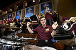 SIOUX FALLS, SD - MARCH 24: A Northern State University band member plays the drums during the Division II Men's Basketball Championship held at the Sanford Pentagon on March 24, 2018 in Sioux Falls, South Dakota. Ferris State University defeated Northern State University 71-69. (Photo by Tim Nwachukwu/NCAA Photos via Getty Images)