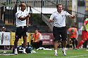 Stevenage manager Graham Westley (r) and assistant manager Dino Maamria<br />  - Stevenage v Leyton Orient - Sky Bet League 1 - Lamex Stadium, Stevenage - 17th August, 2013<br />  © Kevin Coleman 2013