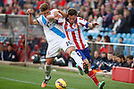Atletico de Madrid´s Saul Niguez (R) and Deportivo de la Coruña´s Wilk during 2014-15 La Liga match between Atletico de Madrid and Deportivo de la Coruña at Vicente Calderon stadium in Madrid, Spain. November 30, 2014. (ALTERPHOTOS/Victor Blanco)